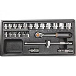 Neo Tools Inleglade Doppenset 3/8, 23dlg