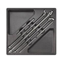 Neo Tools Inleglade Wringsleutelset, 1/4--3/8--1/2, 6dlg