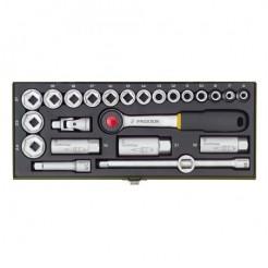 Proxxon 23110 Doppenset 3/8'' - 24-delig, Compacte set 3/8''